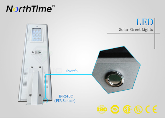China Lithium-Batterie PIR-Sensor-40W 4300LM 30AH für alle in eine LED-Solarstraßenlaterne fournisseur